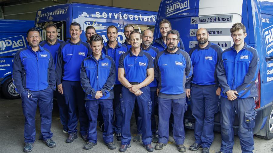 Gruppenfoto Techniker